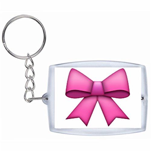 Druckerlebnis24 Schlüsselanhänger Schleife Rucksackanhänger, Taschenanhänger, Keyring, Emoji, Smiley, Exklusiv