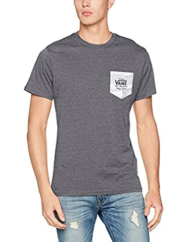 Vans_Apparel Print Box Pocket Tee, T-Shirt Homme, Gris (Heather Grey White Camo), Small