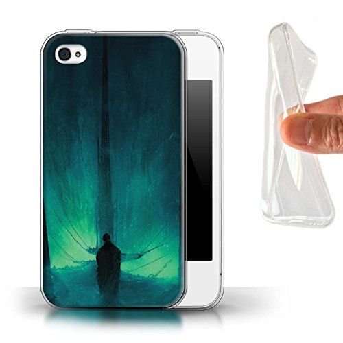 Offiziell Chris Cold Hülle / Gel TPU Case für Apple iPhone 4/4S / Pack 10pcs Muster / Dunkle Kunst Dämon Kollektion Bösen Herzens