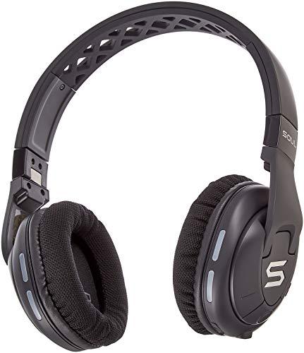 SOUL X-TRA kabellose Over-Ear Kopfhörer mit Bluetooth 4.0 für Smartphones (iPhone X, Samsung Galaxy S9 uvm), schwarz -