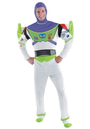 Deluxe Buzz Lightyear Costume - X-Large - Chest Size 42-46 by Disguise