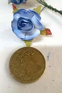 Confezione 72 pezzi-fiori, Bomboniera fiore rosellina, x segnaposto, composizione confetti. CK844 (CELESTE)