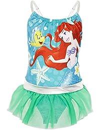 Disney Bañador para Niña Princesas, Pieza Frozen 2 Anna y Elsa, Jasmine, La Cenicienta, Rapunzel, Bella, La Sirenita Ariel, Regalos para Niñas 2-10 Años