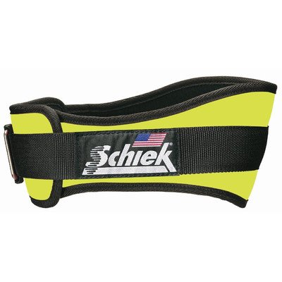 Schiek Sports Power Lifting Belt Model 2004 in Neon Yellow Size M