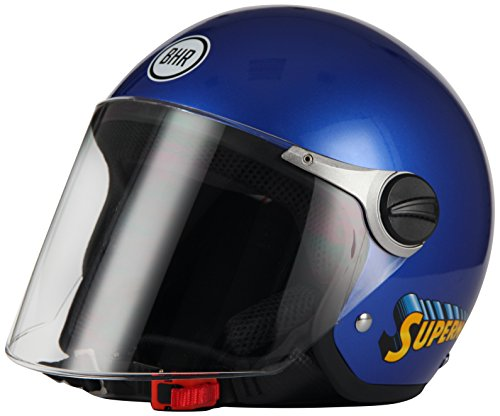 BHR 34054 Casco 713 Superman niño azul, talla YM (51/52), color azu