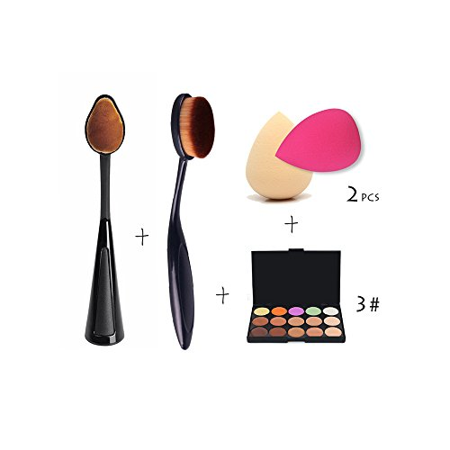 Imported 15 Color Contour Face Cream Concealer Palette+2X Sponge Puff+2X Powd...-54003199MG
