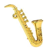 CUTICATE 1:12 Saxophone Sax, Dollhouse Furnishings Musical Instrument Model Figurine, Dollhouse Artist Offerings, Pretend Play Toy
