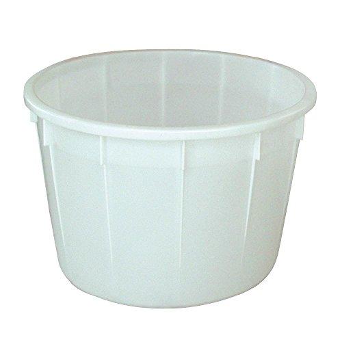 Rundbehälter 350 Liter, lebensmittelecht, ØxH 940 x 710 mm, weiß
