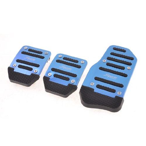 Sourcingmap Lot de 3/Protections antid/érapantes en m/étal pour p/édales de Voiture MT Bleu Noir