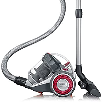 Severin MY 7105 S'Power Nonstop Aspirateur Traineau sans Sac Argent/Grenat 1 L 800 W