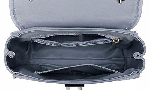 Leder Handtaschen Schulter Diagonalen Beutel Großen Beutel Blue