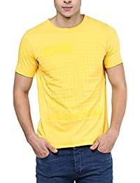 Elaborado Men Round Neck Tshirt - Golden Yellow