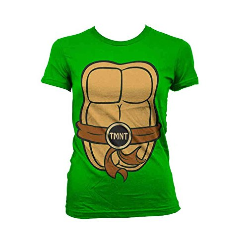 Teenage Mutant Ninja Turtles T Shirt Costume Nue offiziell damen Skinny ()