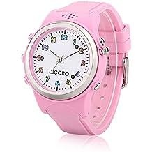 Diggro TD01-B - Smartwatch Para Niños Reloj Inteligente Infantil Pulsera Localizador (GPS, LBS, SOS Llamadas, Tarjeta SIM, para Android e IOS) (Rosa)