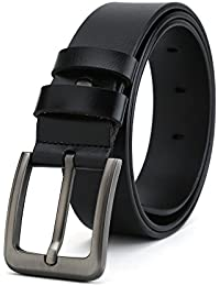 Gurscour Cinturones para hombres Cinturón de cuero genuino vintage para  jeans f3d68c19d2ab