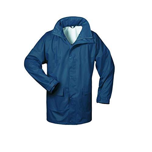 Norway PU Regen-Jacke mit Kapuze - Marine - Größe: XL