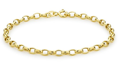 Carissima-9-Karat-375er-Gelbgold-Ovales-Erbsarmband-19cm-1247102