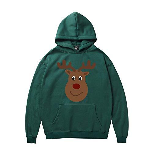 MRULIC Unisex Hoodies Langarm Pullover Drawstring Hooded Sweatshirts Inspiriert Lustige Retro College Hoodie Jumper Christams Sportswear Bunt gemusterten Mantel