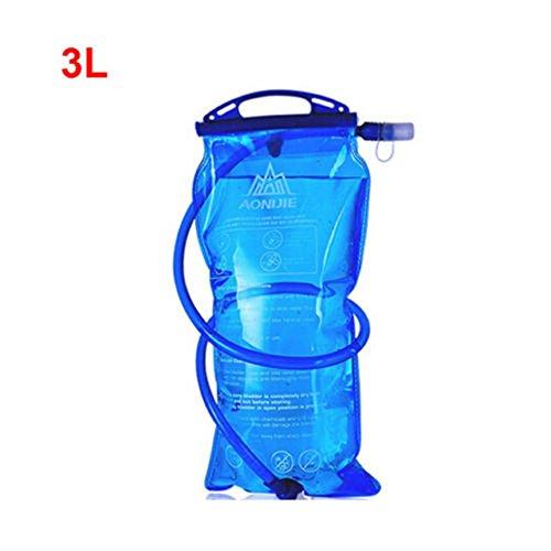 Espeedy Outdoor Wasserflasche Tasche 1L / 1,5L / 2L / 3L Hydratation Camelback Tactical Rucksack Wasser Tasche für Camping Wandern Radfahren Wasserbeutel Wasserblase Trinkblase -