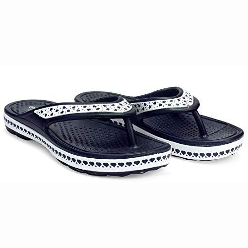 Adda Women's Synthetic Navy Slippers- 4 UK/India