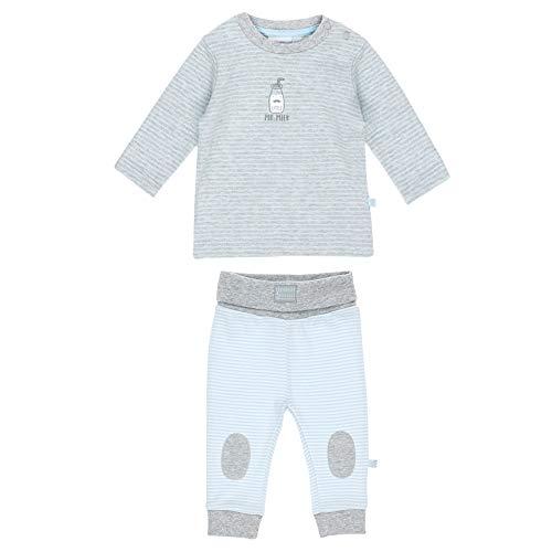 Feetje Feetje Baby-Jungen Zweiteiliger Sweat-Anzug Mr.Milk, grau Melange, 50