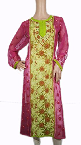 original hand embroided fancy long kurti (back design is same as front)...