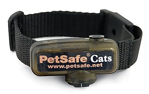 PetSafe - Collier Anti-Fugue pour Chat Supplémentaire pour Clôture Anti-Fugue avec Fil pour Chat PetSafe, 4 niveaux de Stimulation, Collier pour Chat Léger et Ajustable