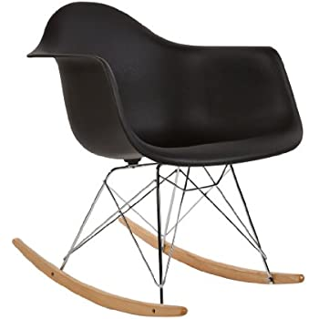 charles eames style rar rocking chair black. Black Bedroom Furniture Sets. Home Design Ideas