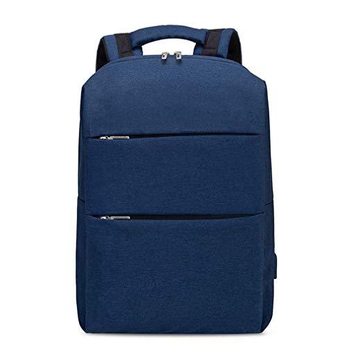 WEIXINNUO Multifunktionaler Rucksack mit USB Lade-Schnittstelle, große Kapazität Computer-Rucksack für 15,6 Zoll Laptop, sowohl Männer als auch Frauen können, Blau - blau - Größe: One Size -