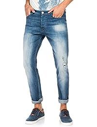 Salsa - Jeans Slender avec déchirures et délavage moyen - Homme