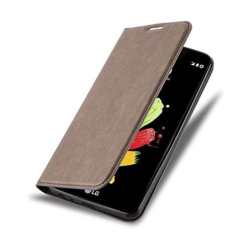 Cadorabo Hülle für LG Stylus 2 - Hülle in Kaffee BRAUN – Handyhülle mit Magnetverschluss, Standfunktion und Kartenfach - Case Cover Schutzhülle Etui Tasche Book Klapp Style