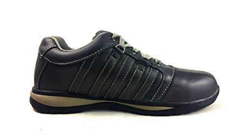 Chaussures de sécurité élégantes Starex en cuir/daim avec embout en acier, Cuir, SW-Grey/Black, 7 Noir/Gris
