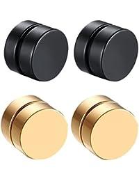 3e1c788ae713 Baoblaze Aretes Magnéticos Clip Sin Perforación Color Oro y Negro para ...