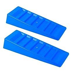 Cunei di compensazione, 3 t, set da 2, blu, per roulotte e camper