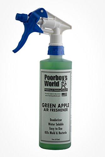 Poorboys Spray désodorisant Green Apple de Voiture Odeur Eliminator 453,6 Gram 473 ML