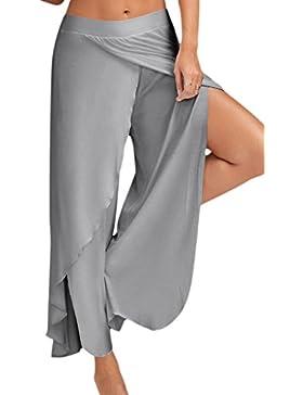 Simgahuva Ropa De Mujer Pantalones De Yoga Pantalones Largos Sueltos Split Palazzo