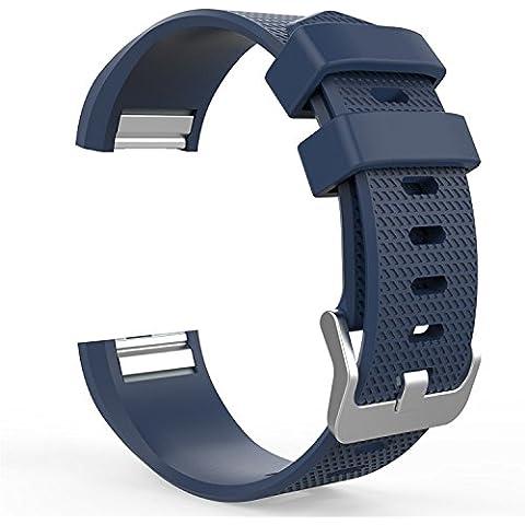 Silicone morbido Sport per Fitbit braccialetto Strap Wristband cinturino di ricambio con sgancio rapido cinturino sport - Sterling Silver Dot Design