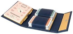 Modiano - Estuche para 2 Barajas de Cartas para Burraco (Piel sintética)