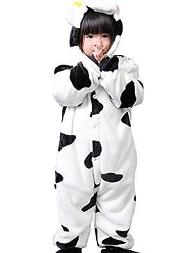 Cliont Vacas animales de los niños Onesie pijama de Kigurumi de Navidad del niño ropa de noche del traje del Anime...