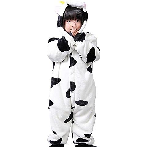 Cliont Vacas animales de los niños Onesie pijama de Kigurumi de Navidad del niño ropa de noche del traje del Anime de