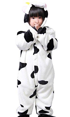 Honeystore Kinder's Unisex Kuh Jumpsuit Kostüme Siamesische Kleidung Freizeitkleidung Tier Pyjamas - Halloween-maske 2017 Rote Preis