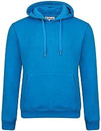 PURL® Plain Mens American Fleece Big Sizes Zip Up Hoody Hooded Zipper Top Warm Pullover Hoodies Lined Tracksuit Sweatshirt Colours Hoodie (S to 5XL)