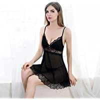 Sexy lingerie High-end adult strap transparent sexy temptation pajamas suit