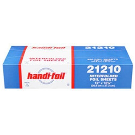 Aluminium Kitchen and Catering Foil Sheets (Made in the USA) 305mm x 273mm - Box of 200 Sheets