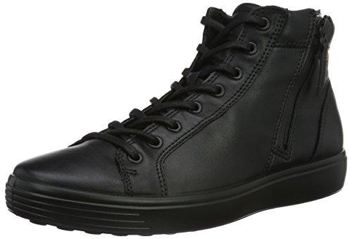 Ecco soft 7 men's, scarpe da ginnastica alte uomo, nero (59075black/lion), 42 eu