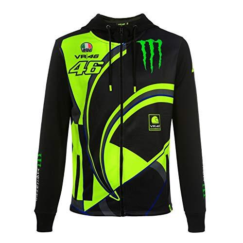 VR46 Yamaha Rossi Replik Monster Zipp Sweater, Größe: S