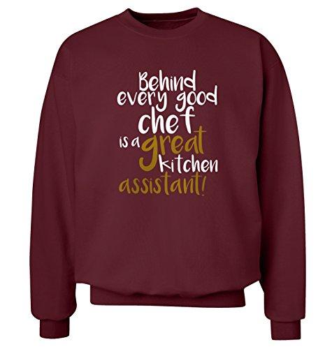 Hinter jeder Guten Chef ist ein tolles Küche Assistant Sweatshirt XS-2X L Pullover Gr. XX-Large, kastanienbraun Assistant Sweatshirt
