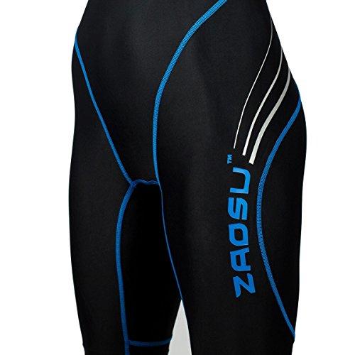 ZAOSU Wettkampf-Schwimmanzug Z-Black - Badeanzug für Mädchen und Damen, Größe:164, Farbe:schwarz/blau - 6