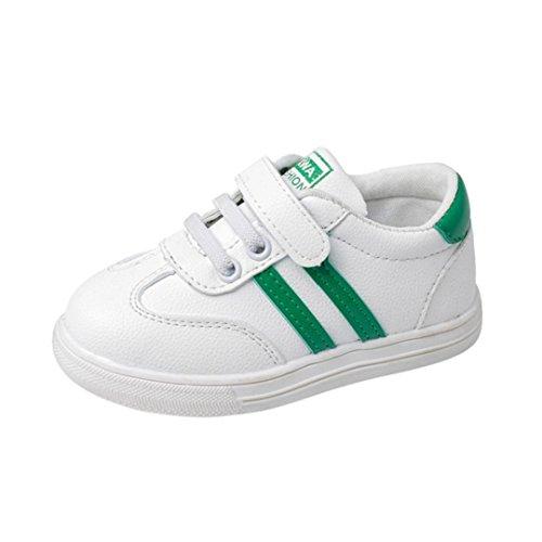 POachers Cute Schuhe Kinder Baby Rutschfest Weiche Sohle Mesh Kleinkind Sneaker Jungen Mädchen (21, Grün)