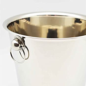 Champagne Wine Ice Chiller Bucket - Stainless Steel - 4 Litre 3